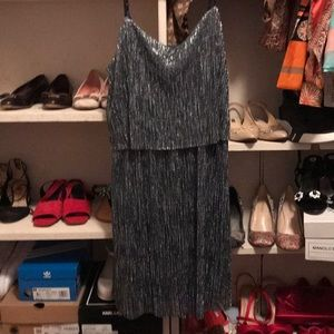 rd style black tan sleeveless dress M